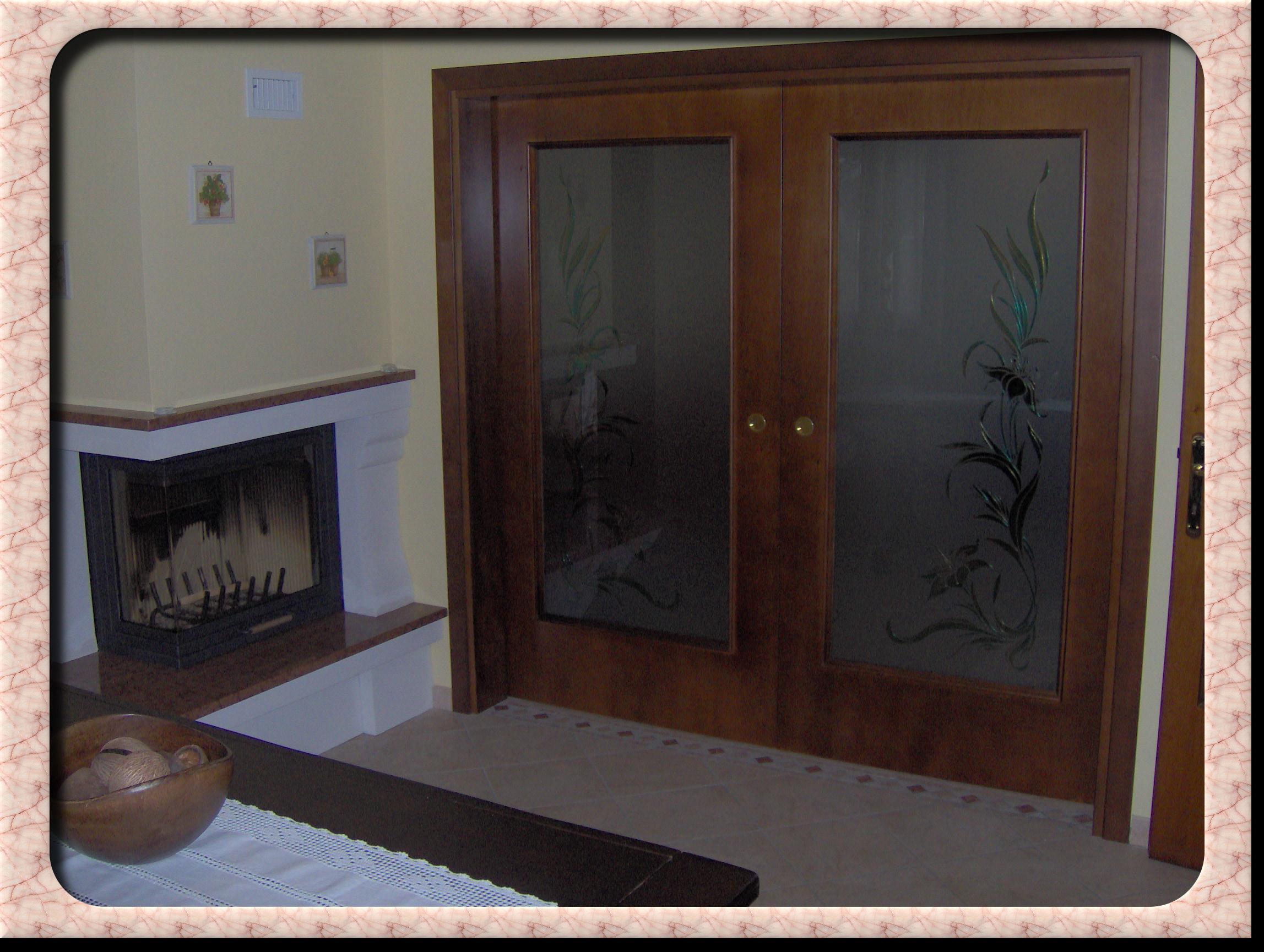 Falegnameria buson serramenti in legno - Porta scorrevole doppia ...